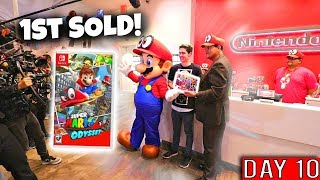 One of Alex CND's most viewed videos: I WAITED 10 DAYS TO BE FIRST TO BUY SUPER MARIO ODYSSEY FROM REGGIE!!