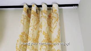 How to Install Kirsch 9600 ceiling curtain track