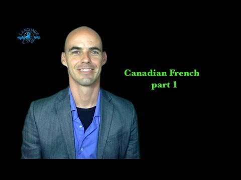 French lesson on Canadian French part 1