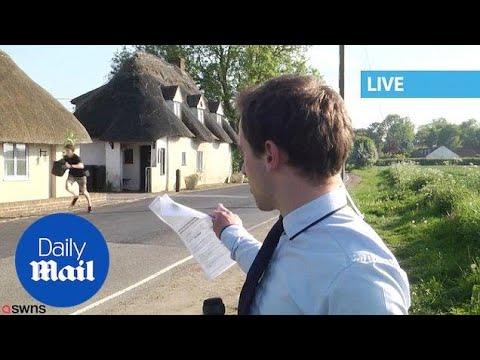 Youth Seen Carrying Suspicious Plant During Live News Report - Daily Mail
