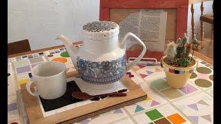 「読売ライフ」10月号に掲載された、鍋敷きのつくり方を動画で紹介しま...