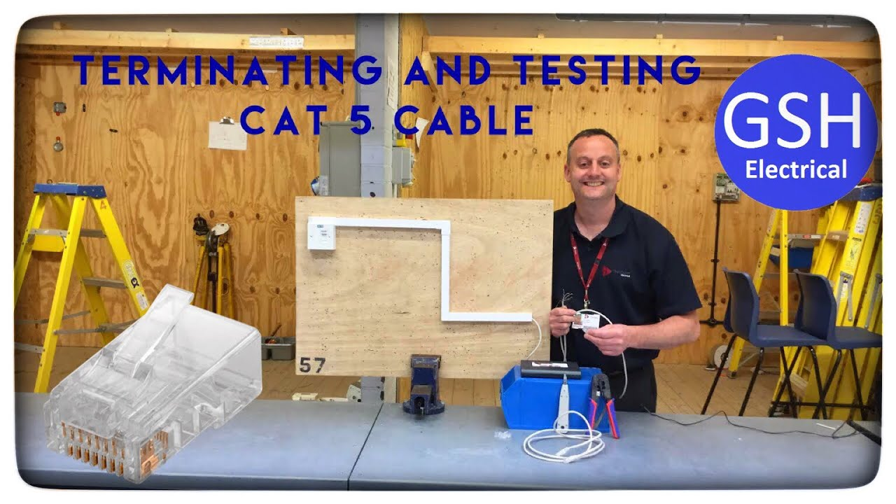 Terminating Cat 5 Ethernet Cable Into A Rj45 Connector Including How To Terminate Cat5 Testing And Full Demonstration