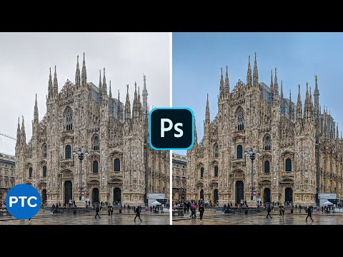 Turn A White/Gray Sky Into A Blue Sky In Photoshop