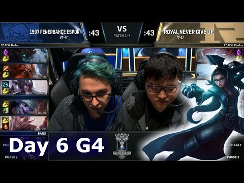 1907 Fenerbahçe vs Royal Never Give Up   Day 6 Main Group Stage S7 LoL Worlds 2017   FB vs RNG G2