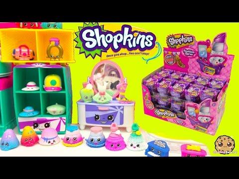 Shopkins FASHION SPREE Blind Bag Box Unboxing Season 1 , 2 , 3 Exclusive Colors - Cookieswirlc Video