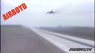 McDonnell Douglas F-4 Phantom II Lands On Autobahn