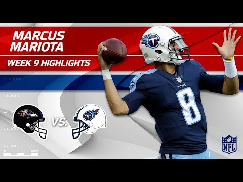 Marcus Mariota Tosses 218 Yards & 2 TDs vs. Baltimore | Ravens vs. Titans | Wk 9 Player Highlights