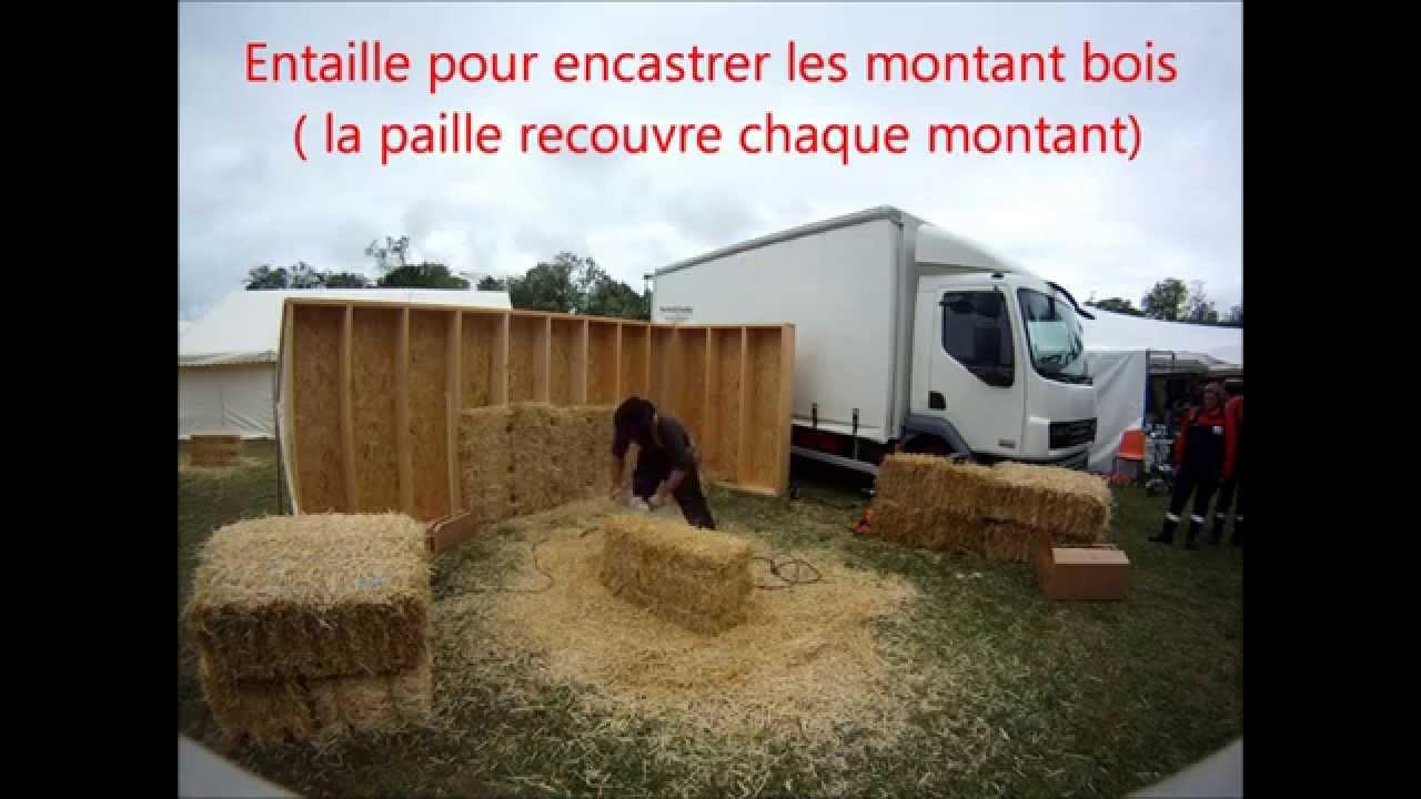 isolation paille pour caisson ossature bois
