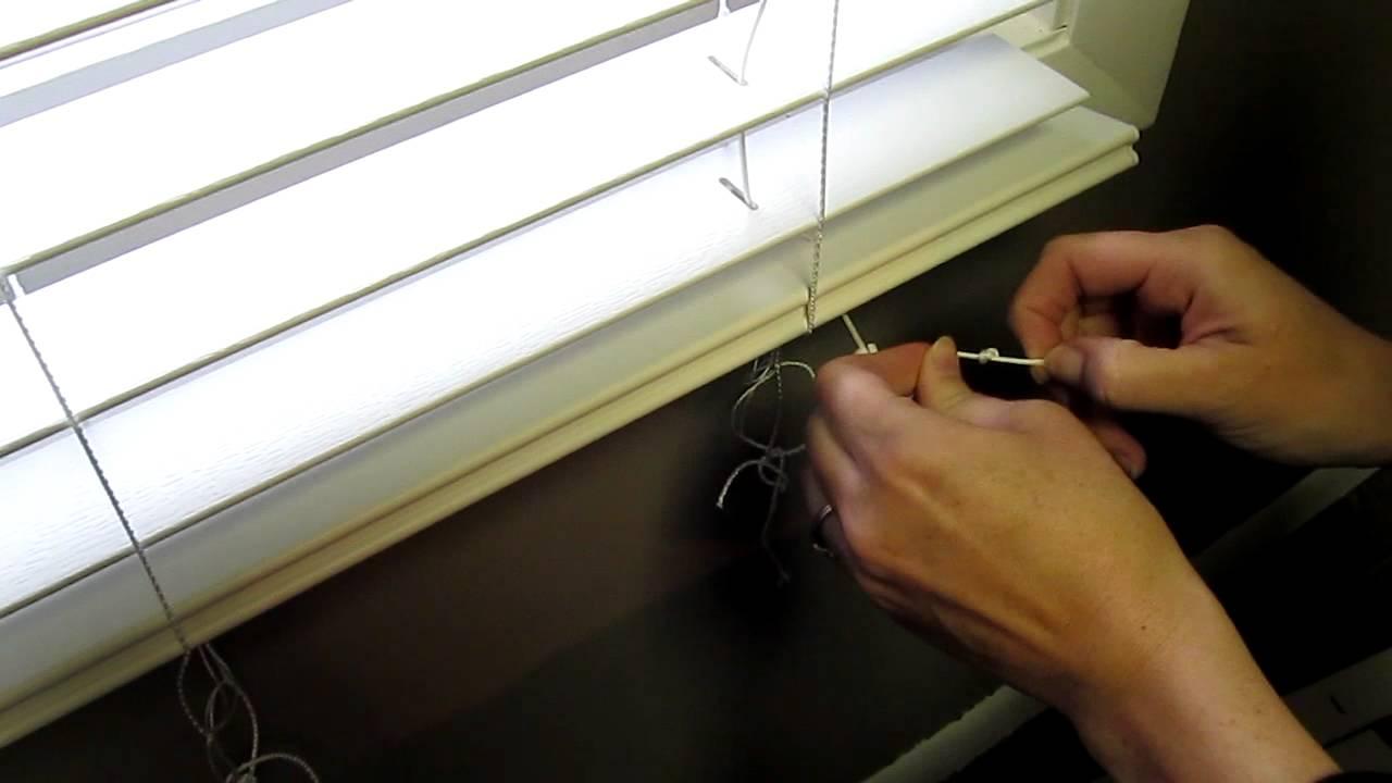 how to shorten faux blinds youtube. Black Bedroom Furniture Sets. Home Design Ideas