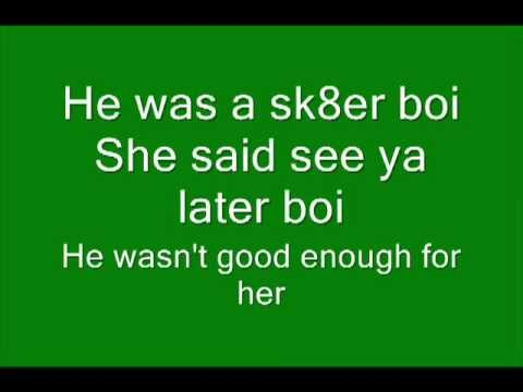 Avril Lavigne - Sk8er boi lyrics