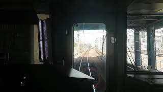 大阪環状線323系LS20編成京橋大阪方面行鶴橋➱大阪前面展望