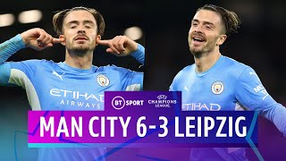 Man City v Leipzig (6-3) | Grealish Pearler In Goal-Fest | Champions League Highlights