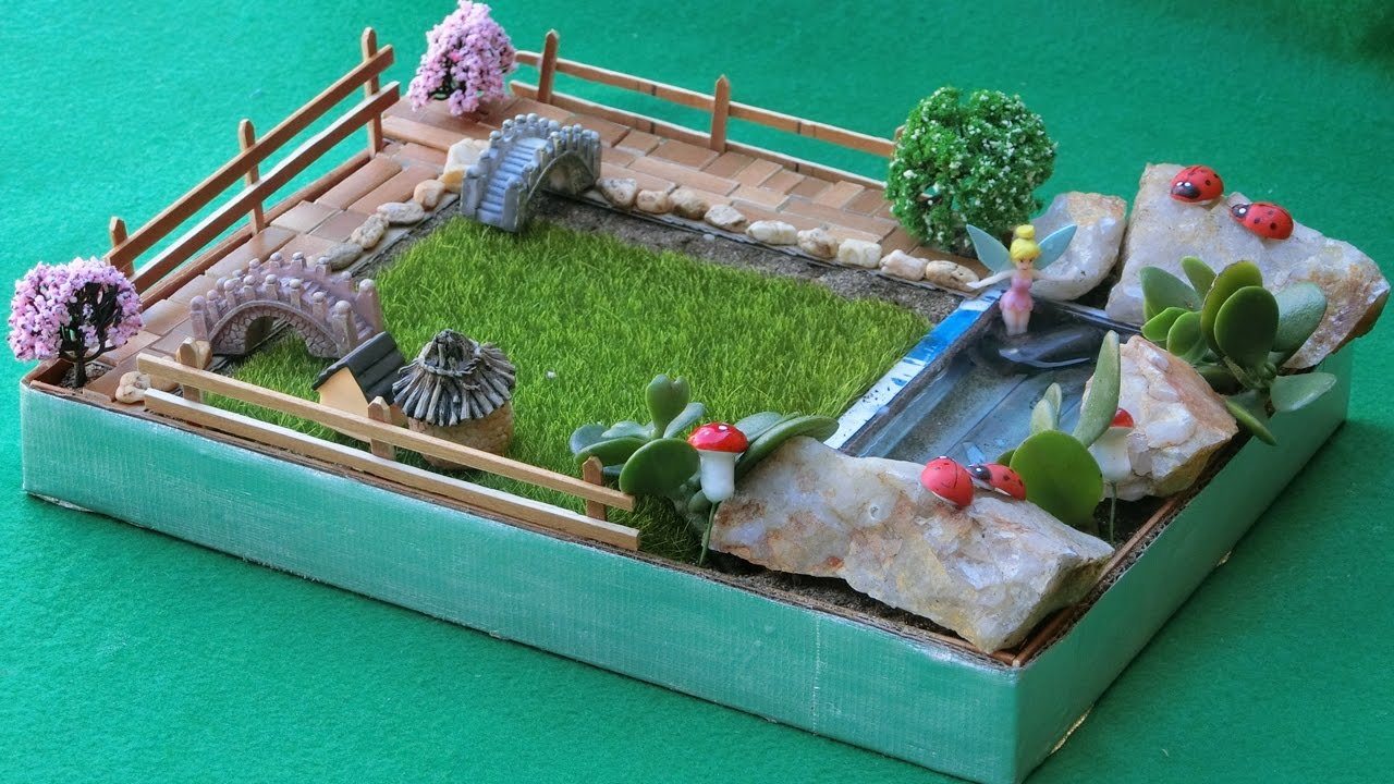 Diy miniature fairy garden 4 easy crafts ideas youtube for Craft ideas for fairy gardens