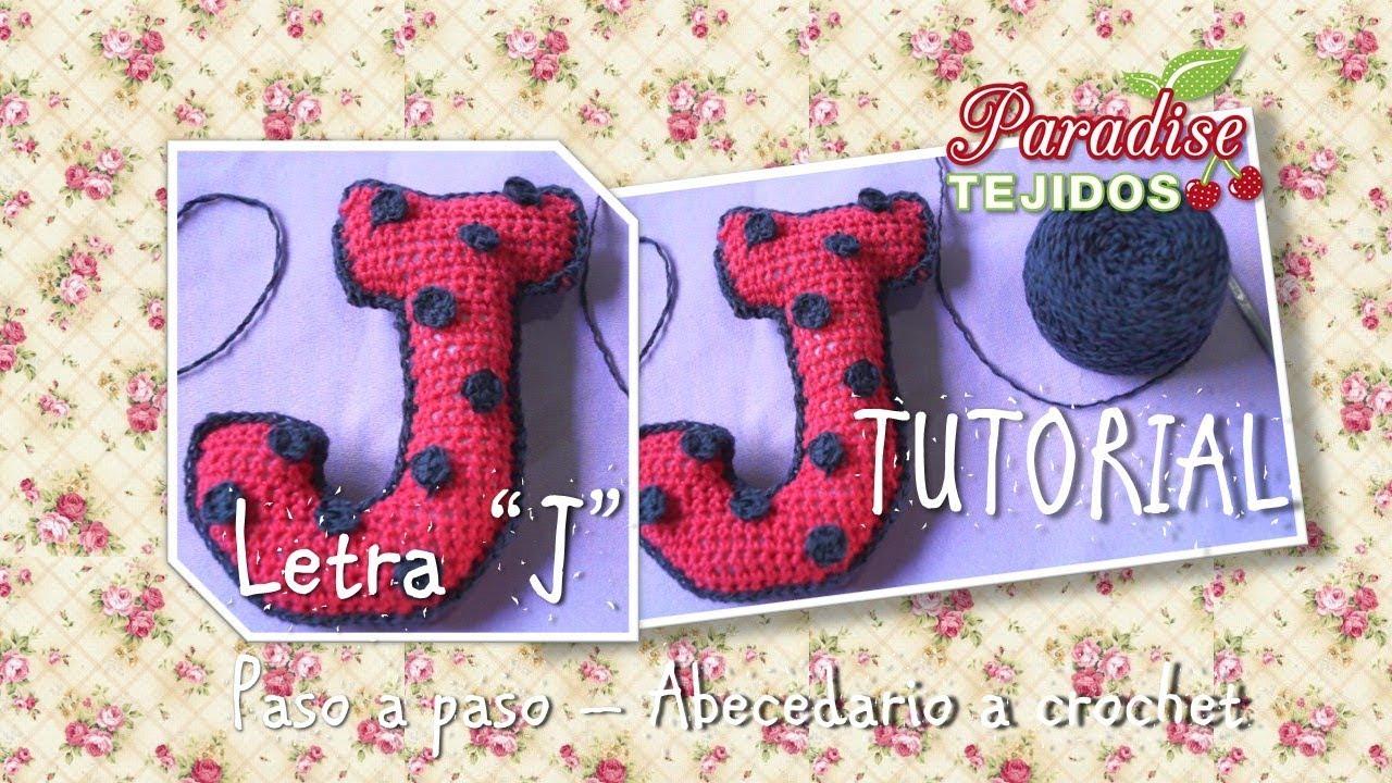 Tutorial Crochet ganchillo letra J - paso a paso abecedario - YouTube