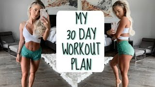 MY FULL 30 DAY WORKOUT PLAN | Revealing the surprise
