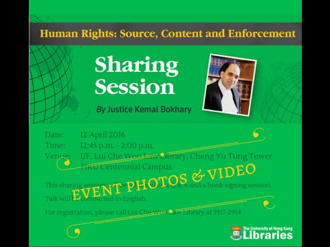 Human Rights Sharing Session - Justice Kemal Bokhary