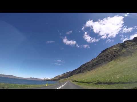 Iceland. Driving from Reykjavík to Akranes through Hvalfjörður (EXTENDED VERSION) HD