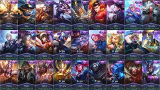 Mobile Legends ALL EPIC SKINS (iOS/Android)