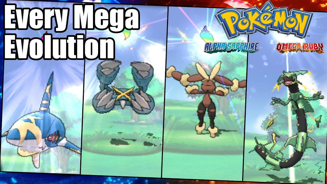 Pokemon Omega Ruby And Alpha Sapphire Every Mega