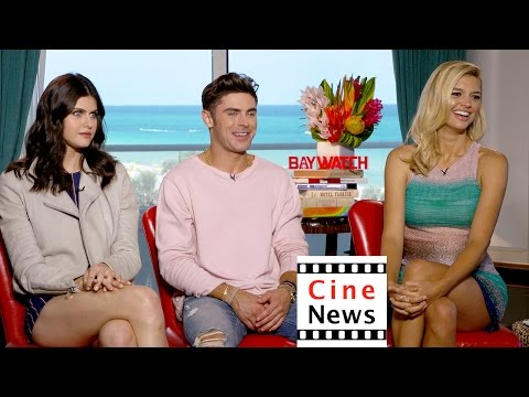 """Baywatch"" – Interview: Zac Efron, Alexandra Daddario, Kelly Rohrbach"