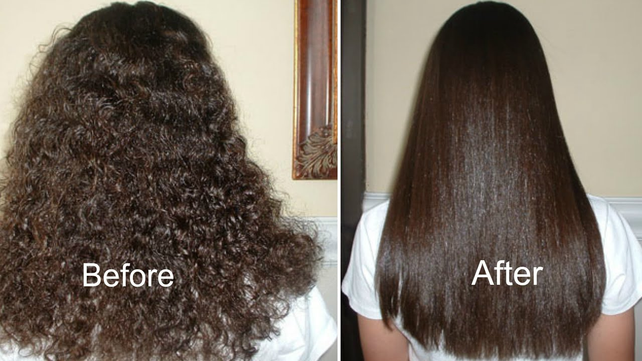 How To Get Straight Hair Naturally At Home Straightening Treatment You