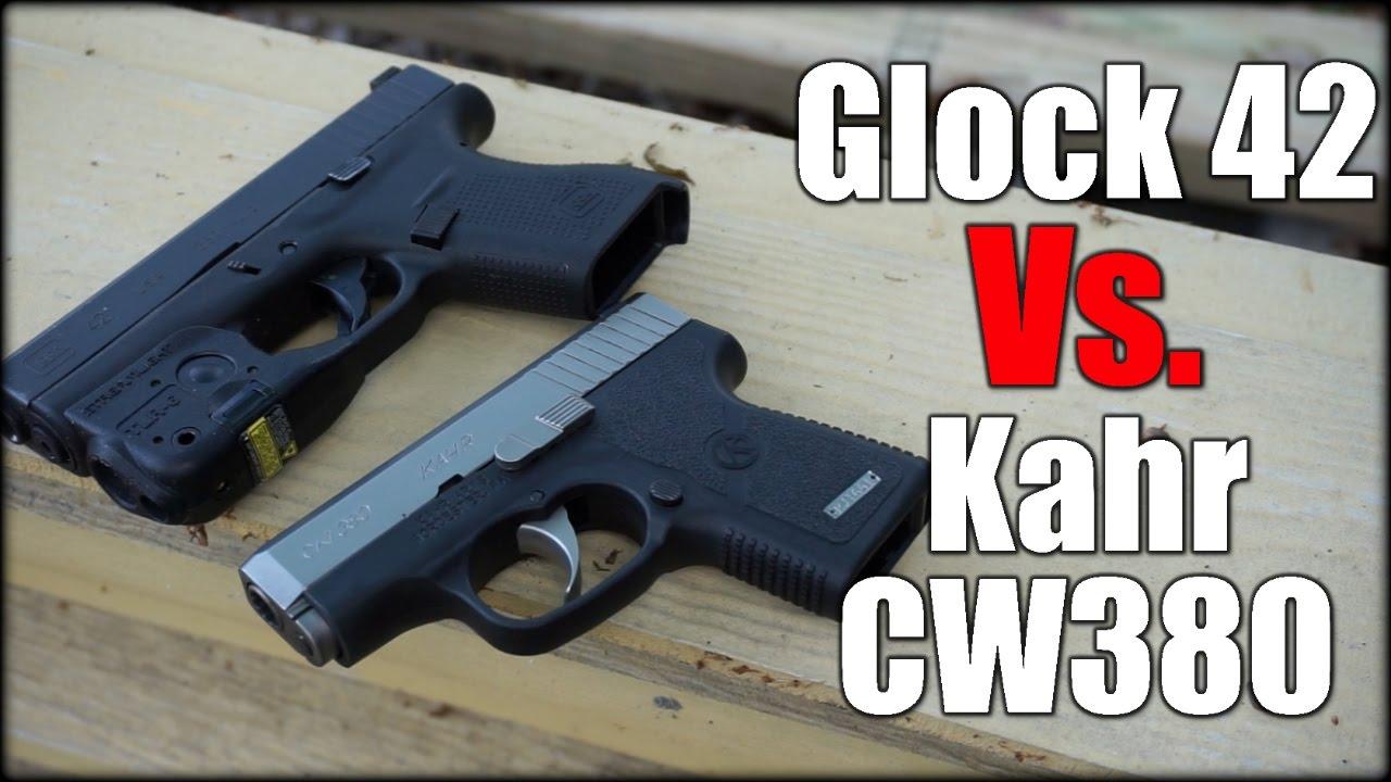 Glock 42 Vs  Kahr CW380| Best 380 ACP