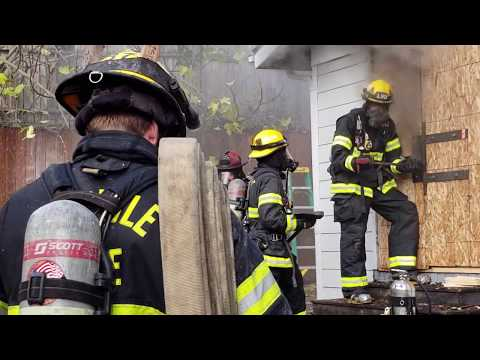 Seattle Fire training in Madison Valley
