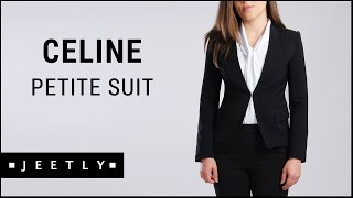 Petite suit jacket and trousers - Celine black suit by Jeetly