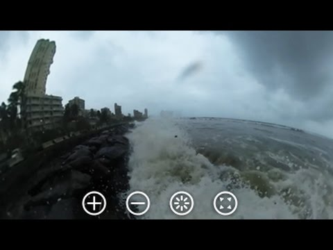 360 Degree View Of Rain-Soaked Bandra Beach In Mumbai