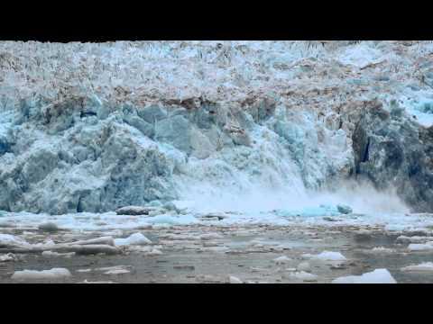 Crashing Glacial Ice in Alaska