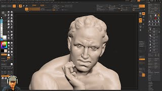 Sculpting Ugolino and His Sons by Jean-Baptiste Carpeaux using ZBrush 2018 - Part - 05