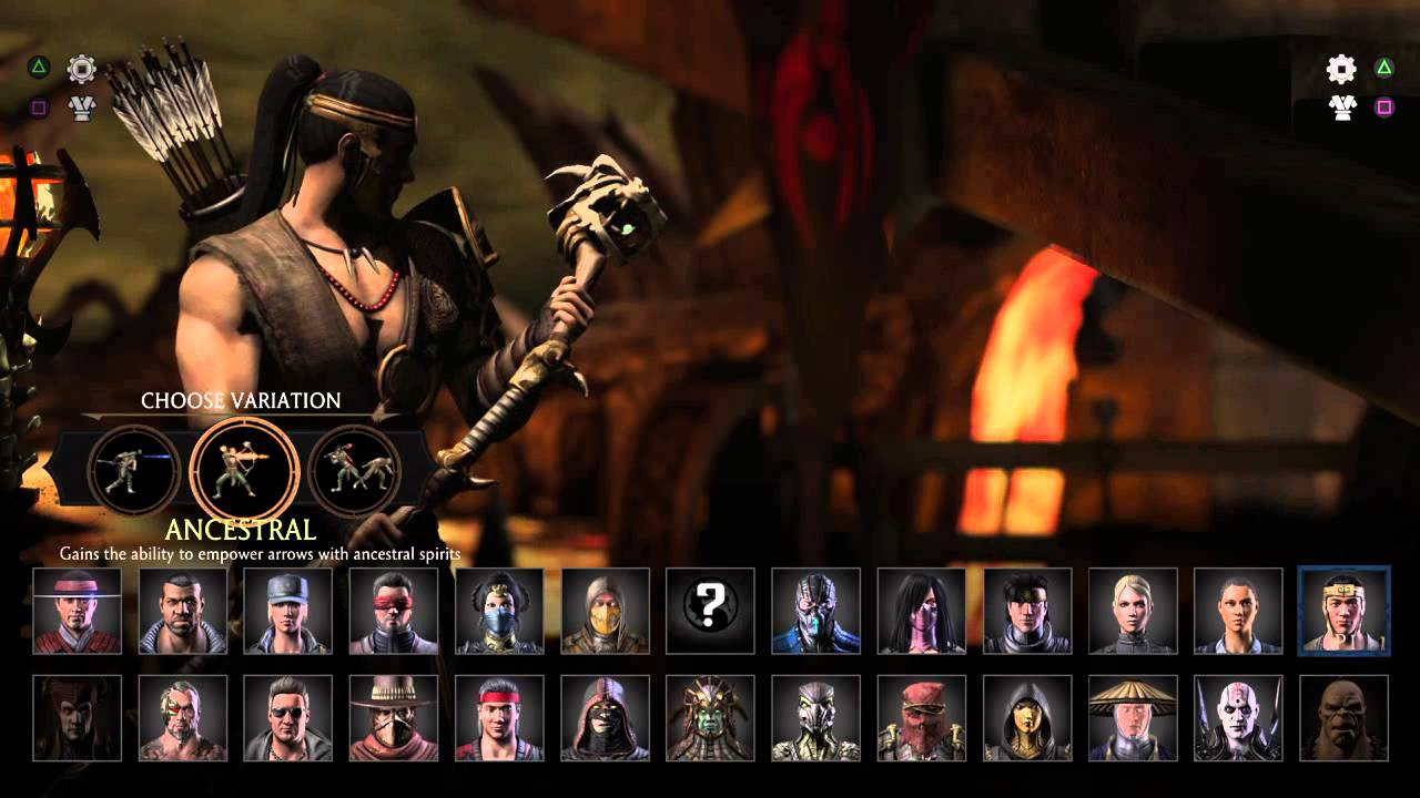 Mortal Kombat X Roster Youtube