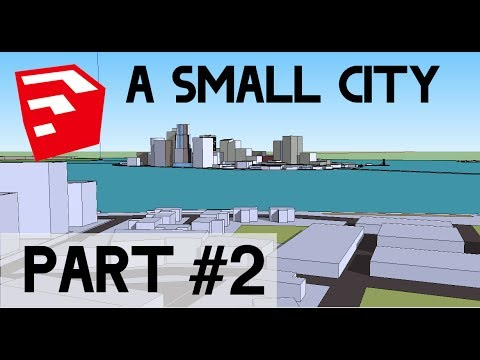 how to put a building in a city sketchup