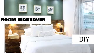 Increíble Transformación de Nuestra Habitación.DIY Pared de enfoque. Room Makeover.