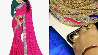 Saree Making At Home With Beautiful Boder , Easy Step By StepTutorial