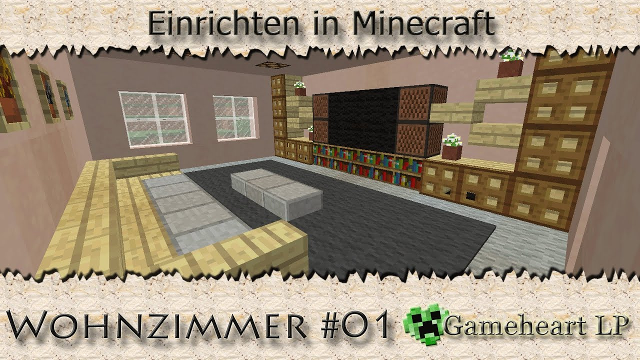 minecraft wohnzimmer 01 einrichten in minecraft youtube. Black Bedroom Furniture Sets. Home Design Ideas