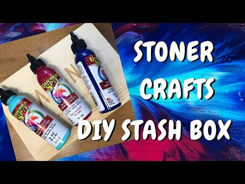 How to Decorate a Stash Box for your Stoner Accessories Using Unicorn Spit