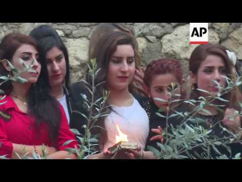 Iraqi Yazidis celebrate religion's new year