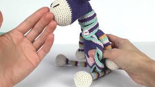 Жираф крючком. Вязаный жираф мастер класс. Crochet giraffe (Урок 3. Сборка игрушки)