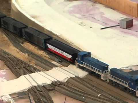 Model Railroad: How To Model A Road Crossing.  Make realistic model train layouts!