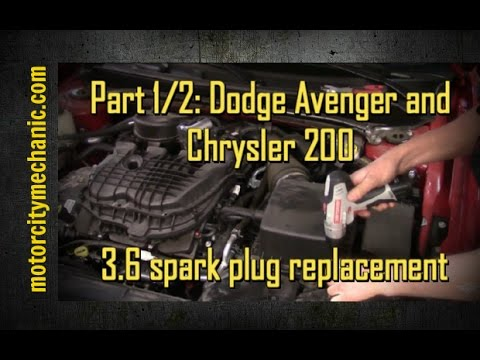 Part 1 2 2014 Dodge Avenger 3 6 Pentastar Engine Spark Plugs