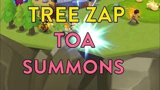 SUMMONERS WAR / TREE ZAP AND TOA SUMMONS