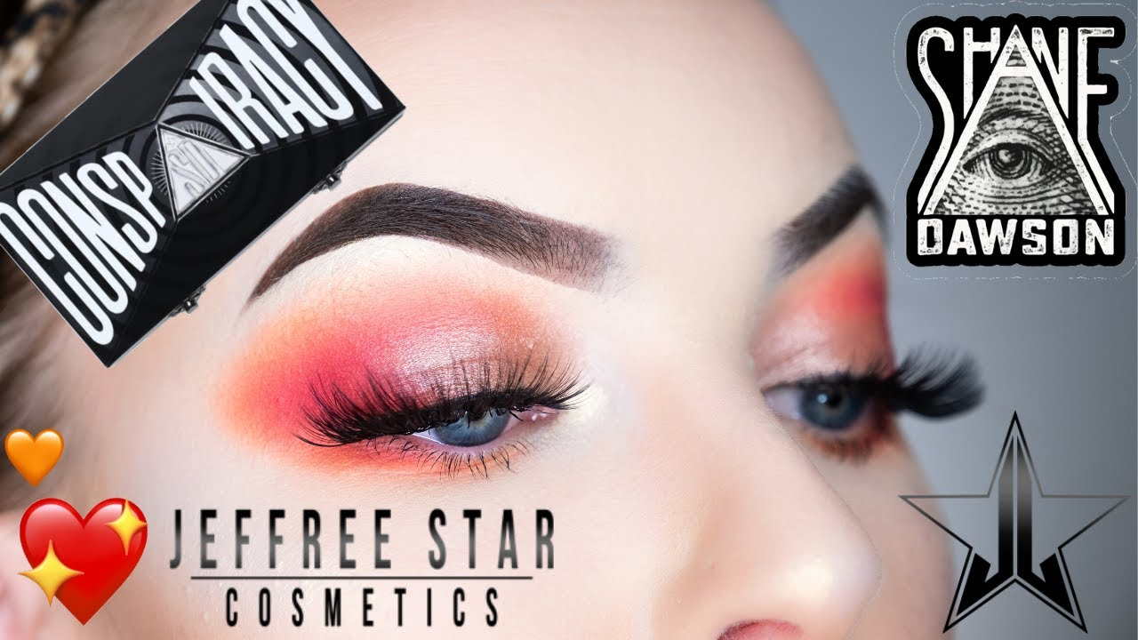 Conspiracy Palette Tutorial Soft Orange Red Glam Youtube