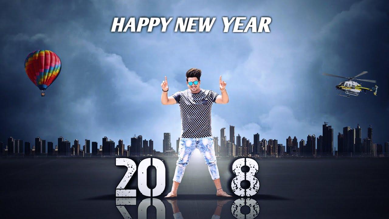 Jb Happy New Year 2018 Picsart Photo Editing Picsart