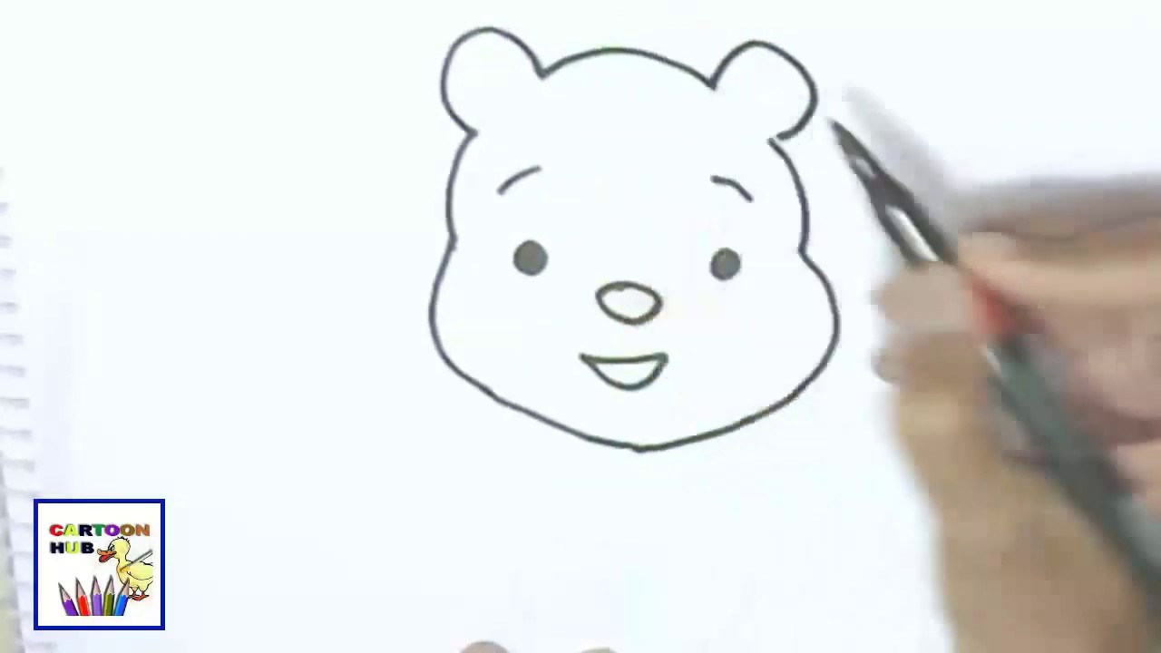 How To Draw Winnie The Pooh Easy Steps Step By Step For Children