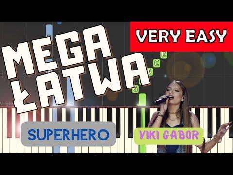🎹 Superhero (Viki Gabor) - Piano Tutorial (MEGA ŁATWA wersja) 🎹