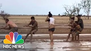 Muddy Celebrations Greet Rainfall In Drought-Stricken, Fire-Ravaged Eastern Australia | NBC News