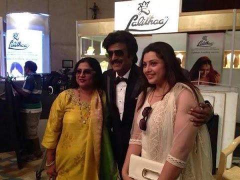 Rajini poses for a snap with his yesteryear Heroines Sripriya and Meena | Linga thumbnail