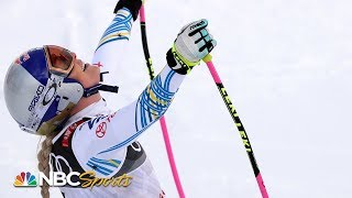 Lindsey Vonn's final downhill run of skiing career | NBC Sports