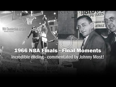Exhilarating Final Moments of the 1966 NBA Finals - Johnny Most Commentating
